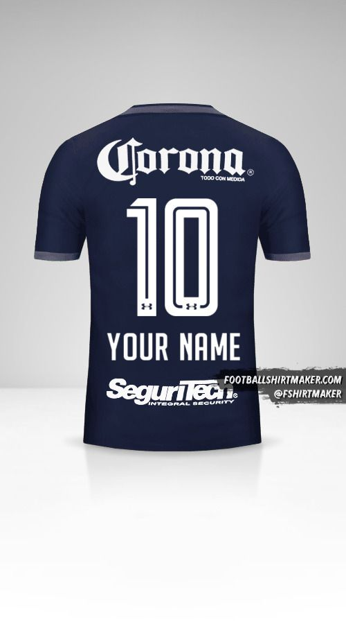 Toluca FC 2017/18 III jersey number 10 your name