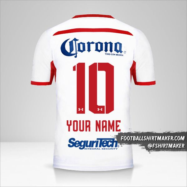 Toluca FC 2018/19 II jersey number 10 your name