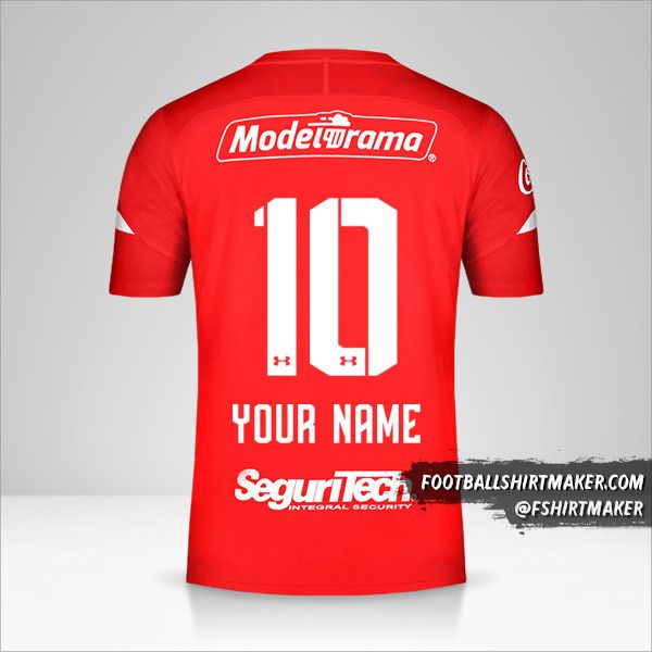 Toluca FC jersey 2019/20 number 10 your name