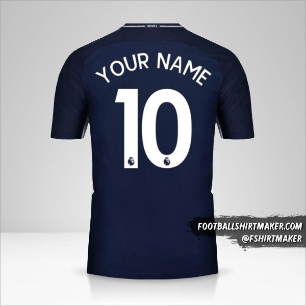 Tottenham Hotspur 2017/18 II jersey number 10 your name