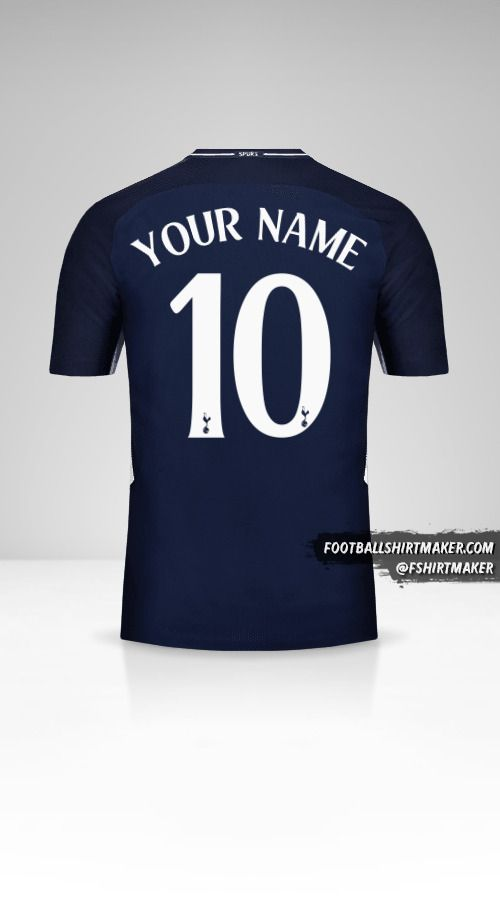 Tottenham Hotspur 2017/18 Cup II jersey number 10 your name