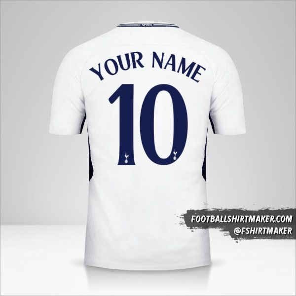 Tottenham Hotspur 2017/18 Cup jersey number 10 your name