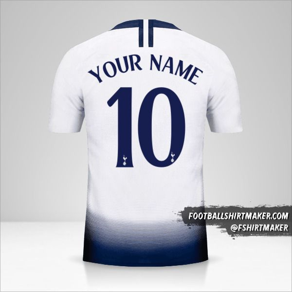 Tottenham Hotspur 2018/19 Cup jersey number 10 your name