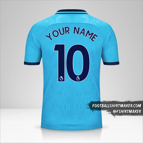 Make Tottenham Hotspur 2019 20 Iii Custom Jersey With Your Name