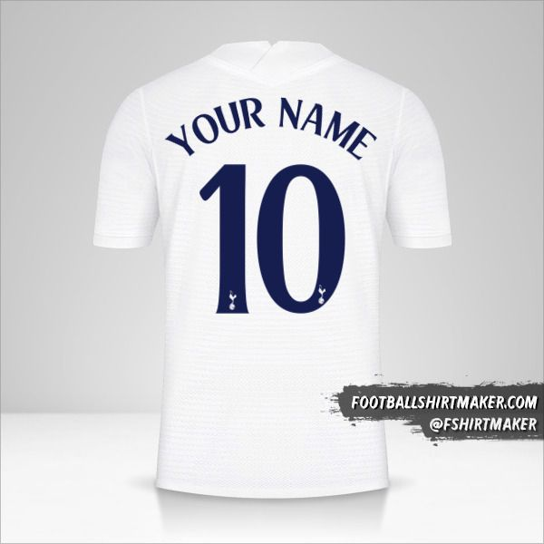 Tottenham Hotspur 2021/2022 Cup jersey number 10 your name