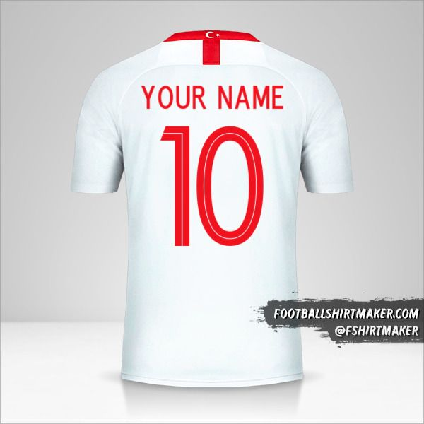 Turkey 2018/19 II jersey number 10 your name