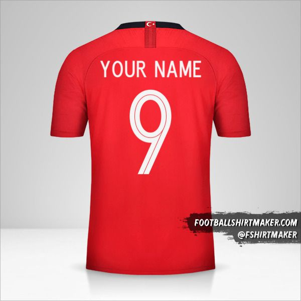 Turkey jersey 2018/19 number 9 your name