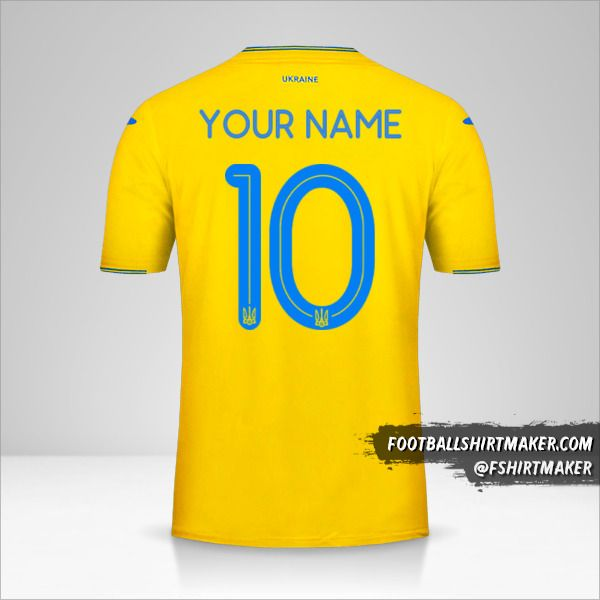 Ukraine 2018/19 jersey number 10 your name