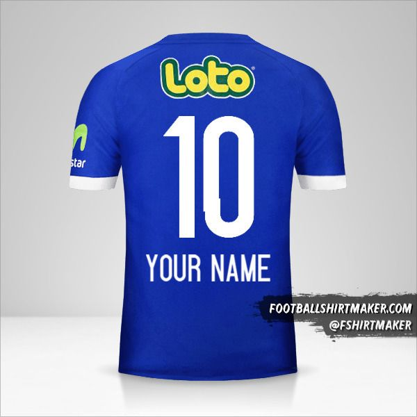 Universidad de Chile 2017 jersey number 10 your name