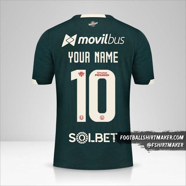 Universitario 2021 II jersey number 10 your name