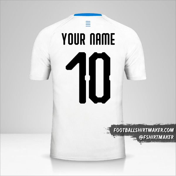 Uruguay 2018 II jersey number 10 your name