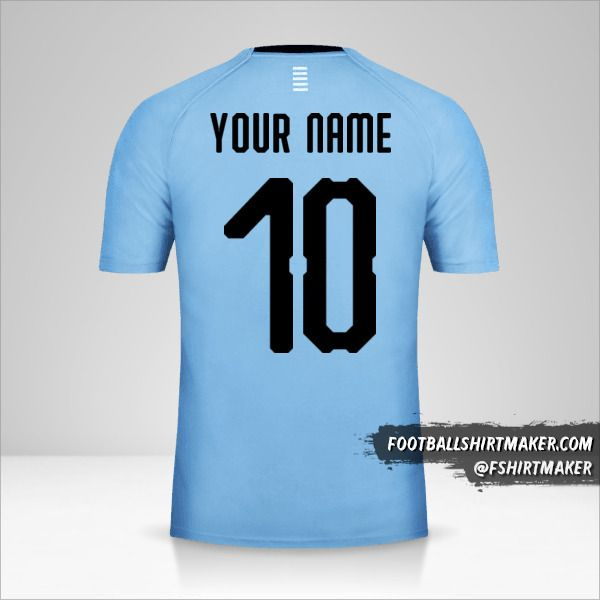 Uruguay 2018 jersey number 10 your name