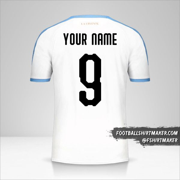 Uruguay Copa América 2019 II jersey number 9 your name
