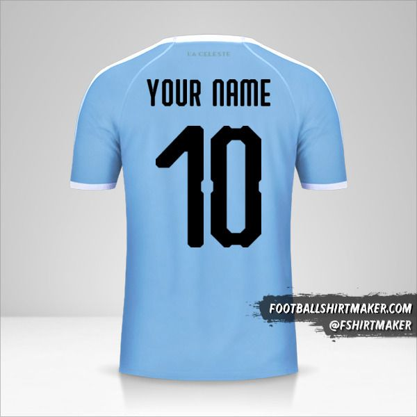 Uruguay jersey Copa América 2019 number 10 your name