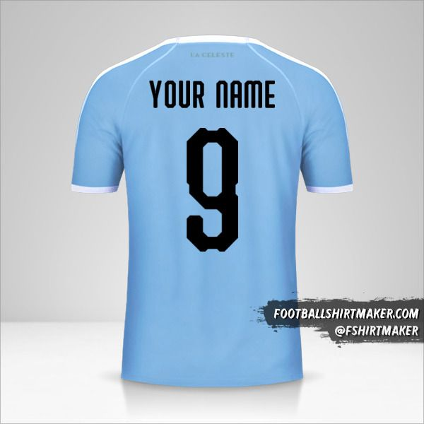 Uruguay jersey Copa América 2019 number 9 your name