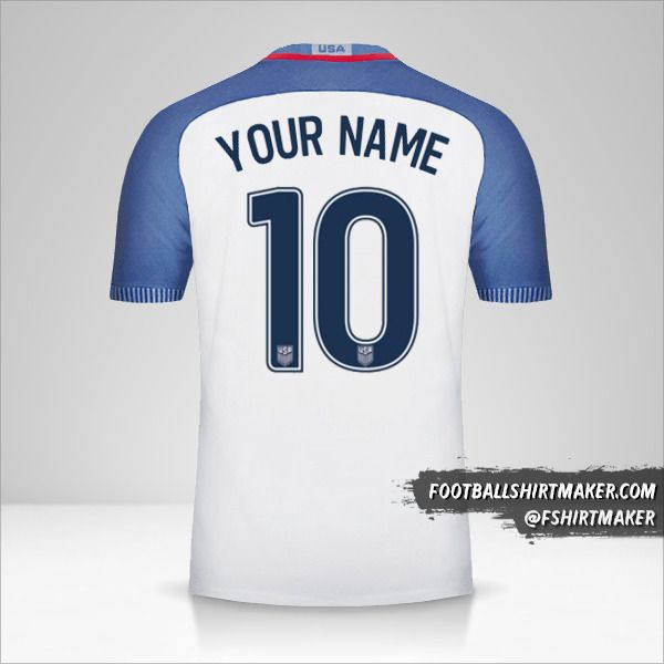USA 2016/17 jersey number 10 your name