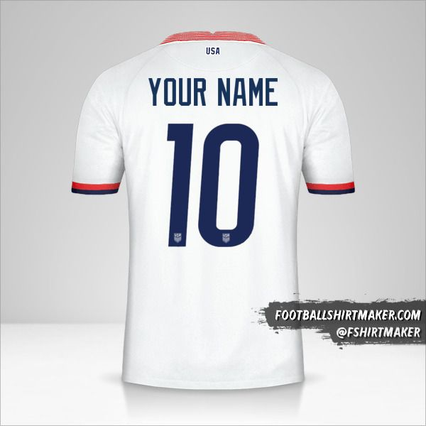 USA 2020 jersey number 10 your name