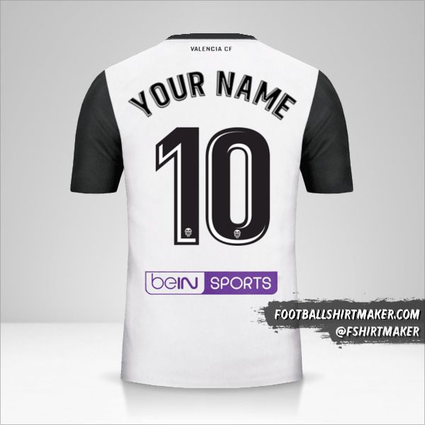 Valencia CF 2017/18 jersey number 10 your name