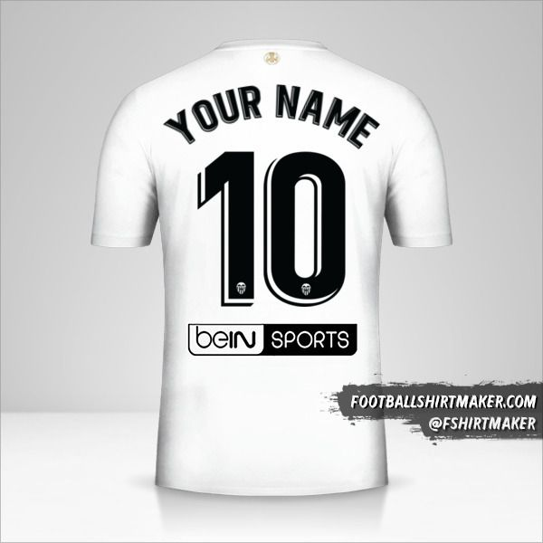 Valencia CF 2018/19 jersey number 10 your name