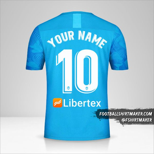 Valencia CF 2019/20 III jersey number 10 your name