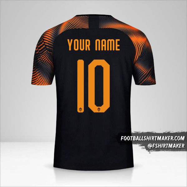 Valencia CF 2019/20 Cup II jersey number 10 your name