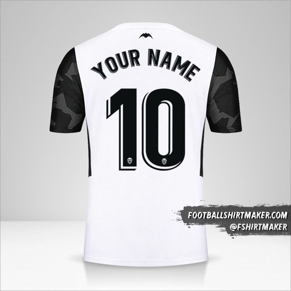 Valencia CF 2021/2022 jersey number 10 your name