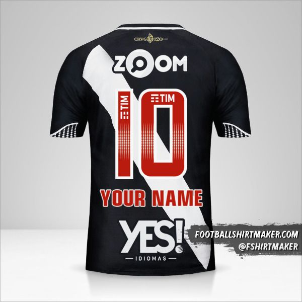 Vasco da Gama jersey 2018 number 10 your name