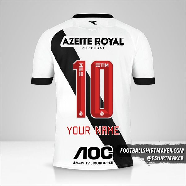 Vasco da Gama 2019/20 II jersey number 10 your name