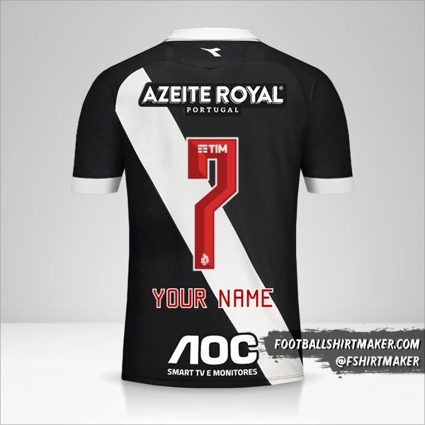 Vasco da Gama jersey 2019/20 number 7 your name