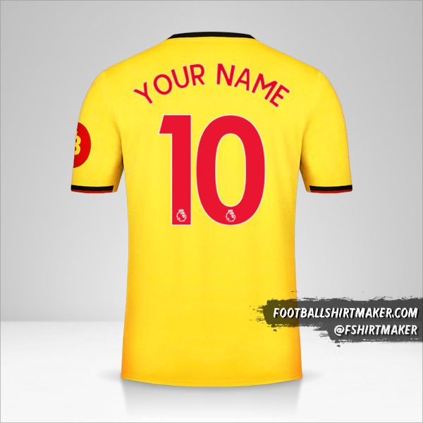 Watford FC 2019/20 jersey number 10 your name