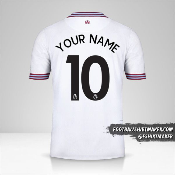West Ham United FC 2019/20 II jersey number 10 your name
