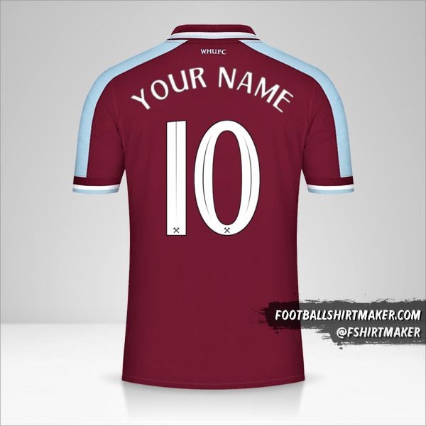 West Ham United FC 2021/2022 Cup jersey number 10 your name