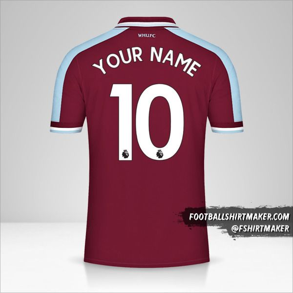 West Ham United FC 2021/2022 jersey number 10 your name