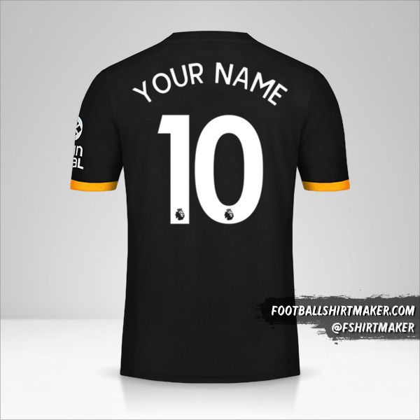 Wolverhampton Wanderers 2019/20 II jersey number 10 your name