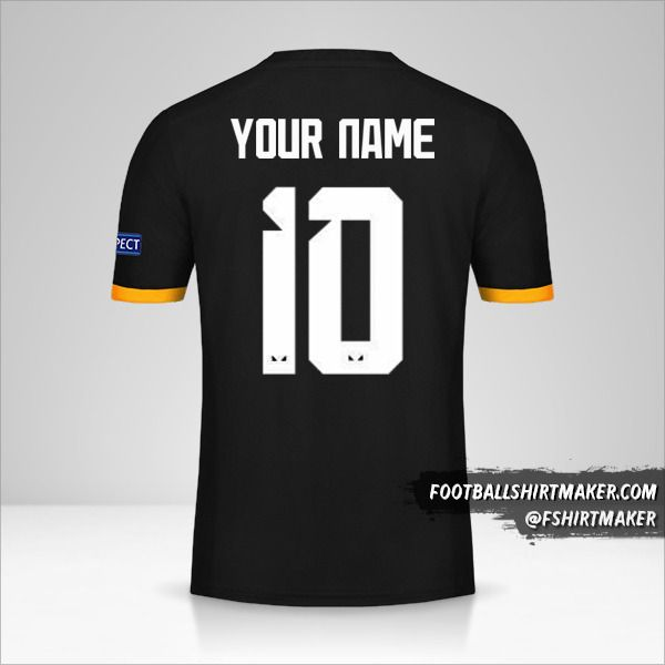 Wolverhampton Wanderers 2019/20 Cup II jersey number 10 your name