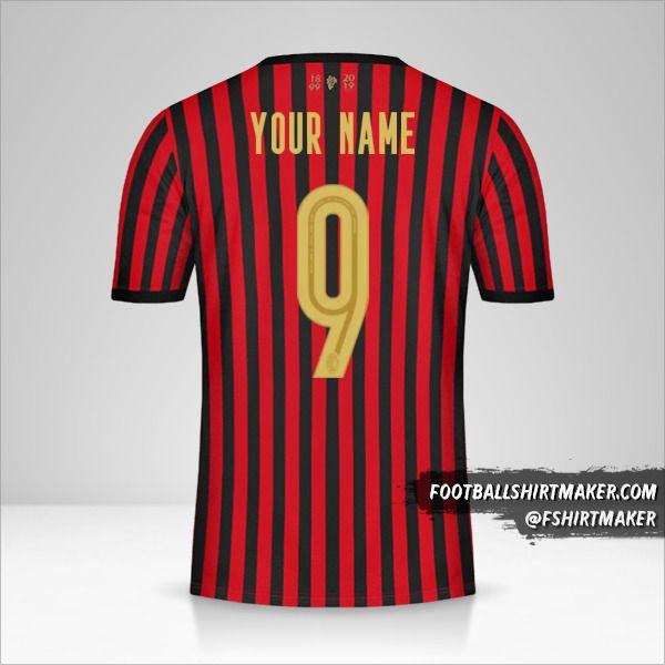 AC Milan 120Th shirt number 9 your name