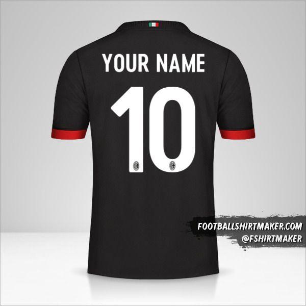 AC Milan 2017/18 III shirt number 10 your name