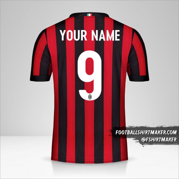AC Milan 2017/18 shirt number 9 your name
