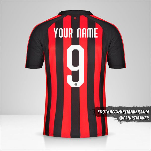 AC Milan 2018/19 shirt number 9 your name