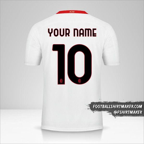 AC Milan 2020/21 II shirt number 10 your name
