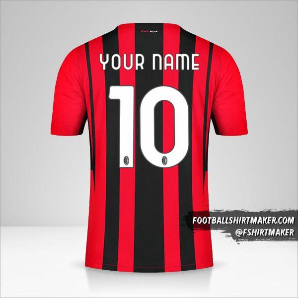 AC Milan 2021/2022 shirt number 10 your name
