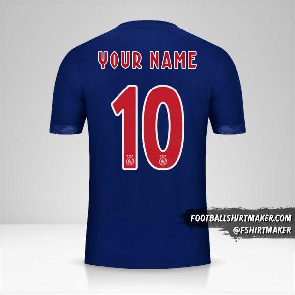 AFC Ajax 2017/18 II shirt number 10 your name