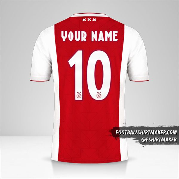AFC Ajax 2018/19 shirt number 10 your name