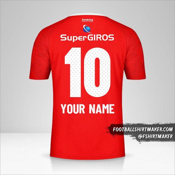 America de Cali 2019/20 shirt number 10 your name