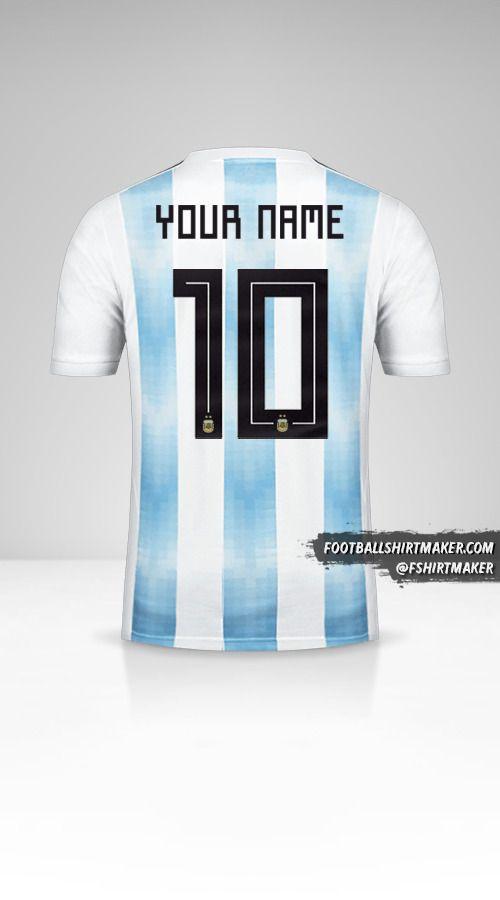 Argentina 2018 shirt number 10 your name