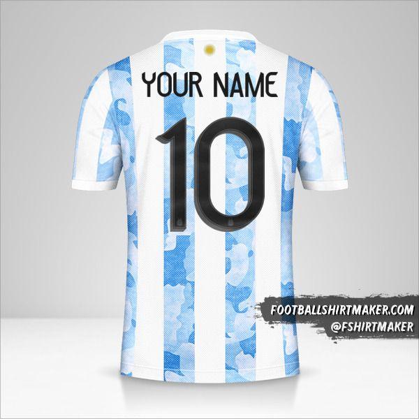 Argentina 2021 shirt number 10 your name