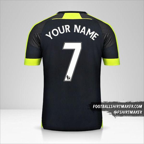 Arsenal 2016/17 III shirt number 7 your name