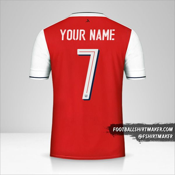 Arsenal 2016/17 Cup shirt number 7 your name