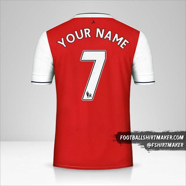 Arsenal 2016/17 shirt number 7 your name