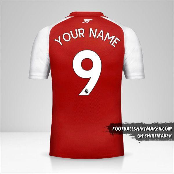 Arsenal 2017/18 shirt number 9 your name